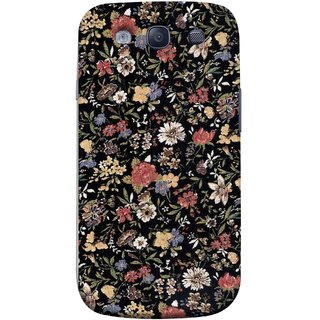 FUSON Designer Back Case Cover for Samsung Galaxy S3 I9300 :: Samsung I9305 Galaxy S Iii :: Samsung Galaxy S Iii Lte (Cotton Quilt Fabric Susie Butterfly Floral )