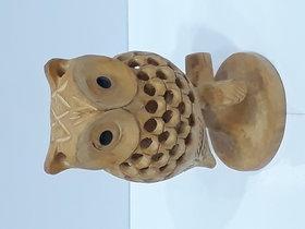 Wooden jaali tree owl