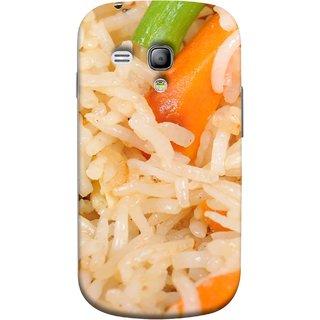 FUSON Designer Back Case Cover for Samsung Galaxy S3 Mini I8190 :: Samsung I8190 Galaxy S Iii Mini :: Samsung I8190N Galaxy S Iii Mini  (Veg Rice Hot With Raita White Top Recipes Food)