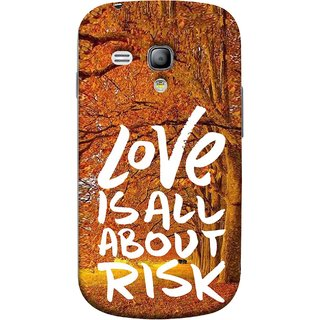 FUSON Designer Back Case Cover for Samsung Galaxy S3 Mini I8190 :: Samsung I8190 Galaxy S Iii Mini :: Samsung I8190N Galaxy S Iii Mini  (Trees Prem Pyar To Badi Risk Hai Very Dangerous )