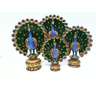 Peacock dancing four pieces pair