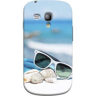 FUSON Designer Back Case Cover for Samsung Galaxy S3 Mini I8190 :: Samsung I8190 Galaxy S Iii Mini :: Samsung I8190N Galaxy S Iii Mini  (Summer Vacation Beach Mobile Wallpaper Blue Sky )