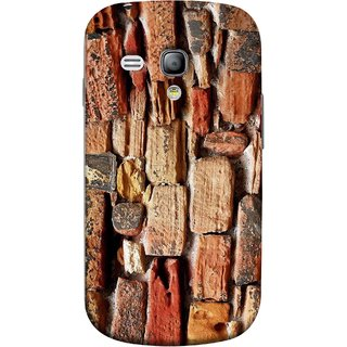 FUSON Designer Back Case Cover for Samsung Galaxy S3 Mini I8190 :: Samsung I8190 Galaxy S Iii Mini :: Samsung I8190N Galaxy S Iii Mini  (Irregular Shapes Ancient Different Sizes Wallpaper)