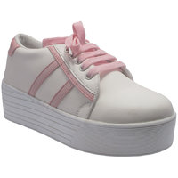 Sammy Womens White And Peach Sneakers Shoes