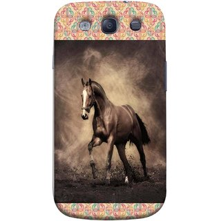 FUSON Designer Back Case Cover for Samsung Galaxy S3 Neo I9300I :: Samsung I9300I Galaxy S3 Neo :: Samsung Galaxy S Iii Neo+ I9300I :: Samsung Galaxy S3 Neo Plus (Beautiful Horse Black And White Brown Canvas Wallpaper)