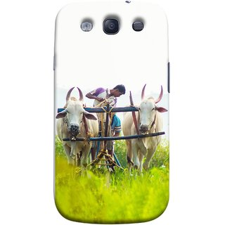FUSON Designer Back Case Cover for Samsung Galaxy S3 Neo I9300I :: Samsung I9300I Galaxy S3 Neo :: Samsung Galaxy S Iii Neo+ I9300I :: Samsung Galaxy S3 Neo Plus (Indian Farmers Crop Sowing Seeds Fresh Rice Plants )