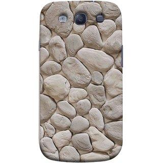 FUSON Designer Back Case Cover for Samsung Galaxy S3 Neo I9300I :: Samsung I9300I Galaxy S3 Neo :: Samsung Galaxy S Iii Neo+ I9300I :: Samsung Galaxy S3 Neo Plus (Landscape River Old Rock Sizes Irregular Shapes Mat)