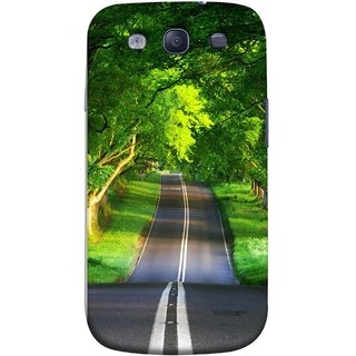 FUSON Designer Back Case Cover for Samsung Galaxy S3 Neo I9300I :: Samsung I9300I Galaxy S3 Neo :: Samsung Galaxy S Iii Neo+ I9300I :: Samsung Galaxy S3 Neo Plus (Road Surrounded By Mountains Beautiful Old Trees )