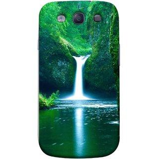 FUSON Designer Back Case Cover for Samsung Galaxy S3 Neo I9300I :: Samsung I9300I Galaxy S3 Neo :: Samsung Galaxy S Iii Neo+ I9300I :: Samsung Galaxy S3 Neo Plus (Mountains & Waterfalls Images Green Lake Desktop)