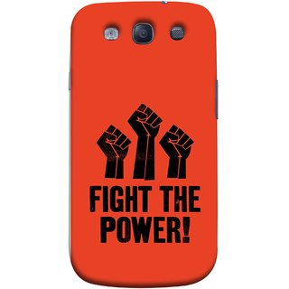 FUSON Designer Back Case Cover for Samsung Galaxy S3 Neo I9300I :: Samsung I9300I Galaxy S3 Neo :: Samsung Galaxy S Iii Neo+ I9300I :: Samsung Galaxy S3 Neo Plus (Always Fight For Truth Justice Will Stand Tall In Sky )