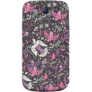 FUSON Designer Back Case Cover for Samsung Galaxy S3 Neo I9300I :: Samsung I9300I Galaxy S3 Neo :: Samsung Galaxy S Iii Neo+ I9300I :: Samsung Galaxy S3 Neo Plus (Pink White Beige Colour Leaves Flowers Walldesign Gift )