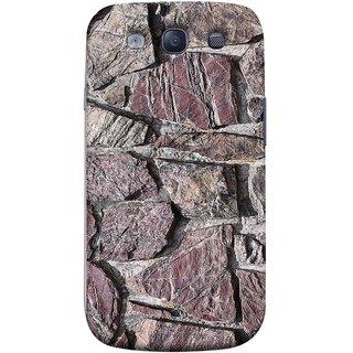 FUSON Designer Back Case Cover for Samsung Galaxy S3 Neo I9300I :: Samsung I9300I Galaxy S3 Neo :: Samsung Galaxy S Iii Neo+ I9300I :: Samsung Galaxy S3 Neo Plus (Sandstone Bricks Of Irregular Shapes Slotting Together )