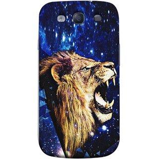 FUSON Designer Back Case Cover for Samsung Galaxy S3 Neo I9300I :: Samsung I9300I Galaxy S3 Neo :: Samsung Galaxy S Iii Neo+ I9300I :: Samsung Galaxy S3 Neo Plus (Wallpaper Abstract Grunge Whiskers Sharp Teeth )