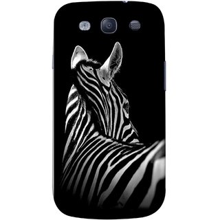 FUSON Designer Back Case Cover for Samsung Galaxy S3 Neo I9300I :: Samsung I9300I Galaxy S3 Neo :: Samsung Galaxy S Iii Neo+ I9300I :: Samsung Galaxy S3 Neo Plus (Close Up Portrait Of A Baby Zebra Long Ears Strips Forest)