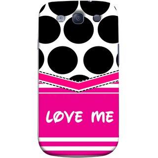 FUSON Designer Back Case Cover for Samsung Galaxy S3 Neo I9300I :: Samsung I9300I Galaxy S3 Neo :: Samsung Galaxy S Iii Neo+ I9300I :: Samsung Galaxy S3 Neo Plus (Pink Design Paper Big Black Circles Bubbles )