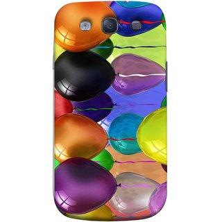 FUSON Designer Back Case Cover for Samsung Galaxy S3 Neo I9300I :: Samsung I9300I Galaxy S3 Neo :: Samsung Galaxy S Iii Neo+ I9300I :: Samsung Galaxy S3 Neo Plus (Watercolor Colorful Holiday Sketch Balloons Set )