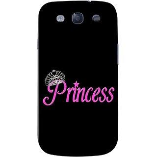 FUSON Designer Back Case Cover for Samsung Galaxy S3 Neo I9300I :: Samsung I9300I Galaxy S3 Neo :: Samsung Galaxy S Iii Neo+ I9300I :: Samsung Galaxy S3 Neo Plus (Silver Crown Of Princess Prince King Baby Pink)