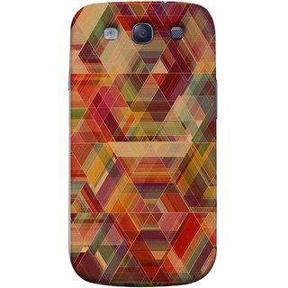 FUSON Designer Back Case Cover for Samsung Galaxy S3 Neo I9300I :: Samsung I9300I Galaxy S3 Neo :: Samsung Galaxy S Iii Neo+ I9300I :: Samsung Galaxy S3 Neo Plus (Geometric Watercolour Art Print Pink Bright)