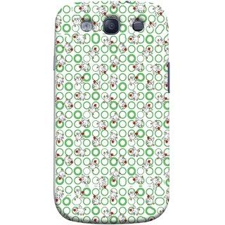 FUSON Designer Back Case Cover for Samsung Galaxy S3 Neo I9300I :: Samsung I9300I Galaxy S3 Neo :: Samsung Galaxy S Iii Neo+ I9300I :: Samsung Galaxy S3 Neo Plus (Small Green Circles On White Bottom Color Printed On Cotton)