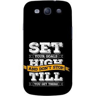 FUSON Designer Back Case Cover for Samsung Galaxy S3 Neo I9300I :: Samsung I9300I Galaxy S3 Neo :: Samsung Galaxy S Iii Neo+ I9300I :: Samsung Galaxy S3 Neo Plus (Till You Get There Dream Big And Achieve Big )