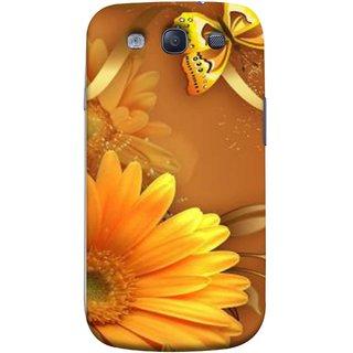 FUSON Designer Back Case Cover for Samsung Galaxy S3 Neo I9300I :: Samsung I9300I Galaxy S3 Neo :: Samsung Galaxy S Iii Neo+ I9300I :: Samsung Galaxy S3 Neo Plus (Butterfly Bright Beautiful Colorful Yellow Splendo Trees )