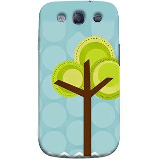 FUSON Designer Back Case Cover for Samsung Galaxy S3 Neo I9300I :: Samsung I9300I Galaxy S3 Neo :: Samsung Galaxy S Iii Neo+ I9300I :: Samsung Galaxy S3 Neo Plus (Brown Branches Hand Artwork Green Leaves Water )