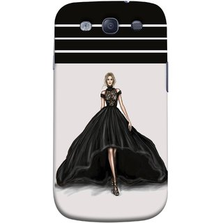FUSON Designer Back Case Cover for Samsung Galaxy S3 Neo I9300I :: Samsung I9300I Galaxy S3 Neo :: Samsung Galaxy S Iii Neo+ I9300I :: Samsung Galaxy S3 Neo Plus (On Stage High Heel Cat Walk Black Dress )