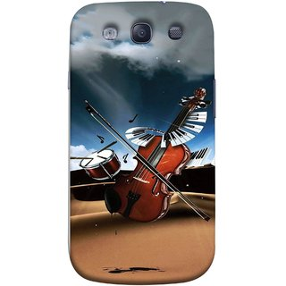 FUSON Designer Back Case Cover for Samsung Galaxy S3 Neo I9300I :: Samsung I9300I Galaxy S3 Neo :: Samsung Galaxy S Iii Neo+ I9300I :: Samsung Galaxy S3 Neo Plus (Musical Instrument Vintage Bass Music Lovers Play)