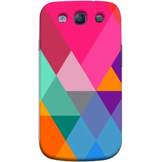 FUSON Designer Back Case Cover for Samsung Galaxy S3 Neo I9300I :: Samsung I9300I Galaxy S3 Neo :: Samsung Galaxy S Iii Neo+ I9300I :: Samsung Galaxy S3 Neo Plus (Abstract Painting Colored Triangles Acrylic Painting)