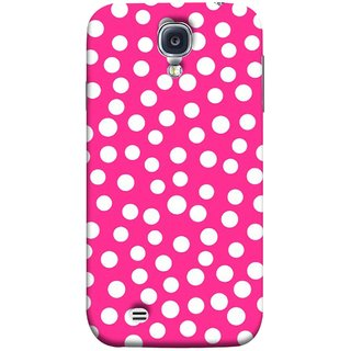 FUSON Designer Back Case Cover for Samsung Galaxy S4 I9500 :: Samsung I9500 Galaxy S4 :: Samsung I9505 Galaxy S4 :: Samsung Galaxy S4 Value Edition I9515 I9505G (Small Bubbles Marbles Circle Pink Board)