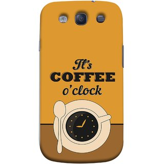 FUSON Designer Back Case Cover for Samsung Galaxy S3 Neo I9300I :: Samsung I9300I Galaxy S3 Neo :: Samsung Galaxy S Iii Neo+ I9300I :: Samsung Galaxy S3 Neo Plus (Yellow Good Morning Tea Coffee Full Cup Black)