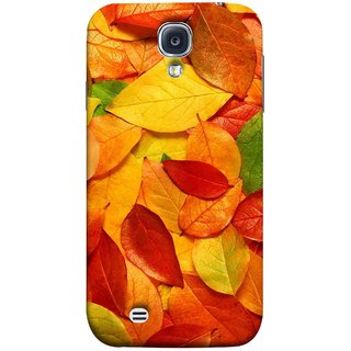 FUSON Designer Back Case Cover for Samsung Galaxy S4 I9500 :: Samsung I9500 Galaxy S4 :: Samsung I9505 Galaxy S4 :: Samsung Galaxy S4 Value Edition I9515 I9505G (Multicolour Dry Leaves Painting Bright Sunny Day )
