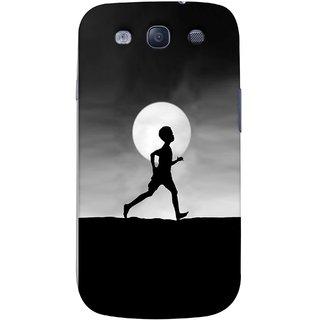 FUSON Designer Back Case Cover for Samsung Galaxy S3 Neo I9300I :: Samsung I9300I Galaxy S3 Neo :: Samsung Galaxy S Iii Neo+ I9300I :: Samsung Galaxy S3 Neo Plus (Halloween Vector Illustration Background Full Moon )