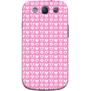 FUSON Designer Back Case Cover for Samsung Galaxy S3 Neo I9300I :: Samsung I9300I Galaxy S3 Neo :: Samsung Galaxy S Iii Neo+ I9300I :: Samsung Galaxy S3 Neo Plus (Valentine Pink Metallic Cool Peace Sign Symbol Pillow)