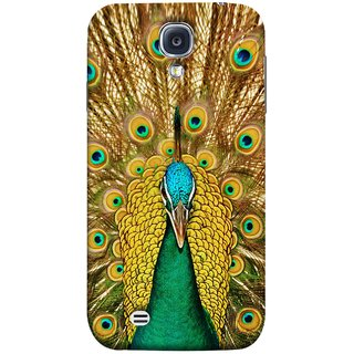 FUSON Designer Back Case Cover for Samsung Galaxy S4 I9500 :: Samsung I9500 Galaxy S4 :: Samsung I9505 Galaxy S4 :: Samsung Galaxy S4 Value Edition I9515 I9505G (Nice Colourful Long Peacock Feathers Beak)