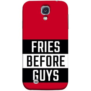 FUSON Designer Back Case Cover for Samsung Galaxy S4 I9500 :: Samsung I9500 Galaxy S4 :: Samsung I9505 Galaxy S4 :: Samsung Galaxy S4 Value Edition I9515 I9505G (Food Before Dudes Food Lovers Mac D Lovers )