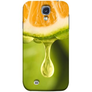 FUSON Designer Back Case Cover for Samsung Galaxy S4 I9500 :: Samsung I9500 Galaxy S4 :: Samsung I9505 Galaxy S4 :: Samsung Galaxy S4 Value Edition I9515 I9505G (Orange Juice Dripping Slice Citrus Fruit Flesh)