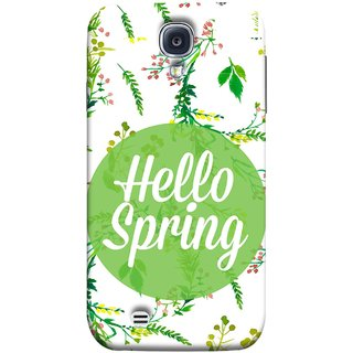 FUSON Designer Back Case Cover for Samsung Galaxy S4 I9500 :: Samsung I9500 Galaxy S4 :: Samsung I9505 Galaxy S4 :: Samsung Galaxy S4 Value Edition I9515 I9505G (Season Banner With Fresh Green Leaves Showering)