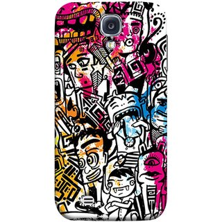 FUSON Designer Back Case Cover for Samsung Galaxy S4 I9500 :: Samsung I9500 Galaxy S4 :: Samsung I9505 Galaxy S4 :: Samsung Galaxy S4 Value Edition I9515 I9505G (Many People Mob Looking Shouting Laughing Stars )