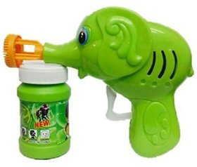New Pinch Hand Pressing Bubble Making Gun toy  (Multicolor)