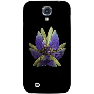 FUSON Designer Back Case Cover for Samsung Galaxy S4 I9500 :: Samsung I9500 Galaxy S4 :: Samsung I9505 Galaxy S4 :: Samsung Galaxy S4 Value Edition I9515 I9505G (Blue Prange Pink Multicolor Pink Flowers Patterns)