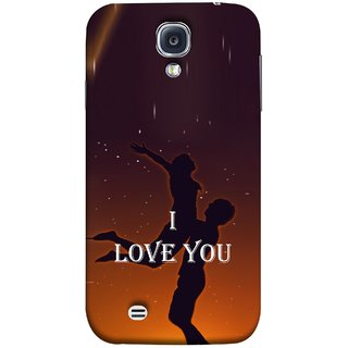 FUSON Designer Back Case Cover for Samsung Galaxy S4 I9500 :: Samsung I9500 Galaxy S4 :: Samsung I9505 Galaxy S4 :: Samsung Galaxy S4 Value Edition I9515 I9505G (I Love You Wallpapers Flowers Lovers Boyfriends )