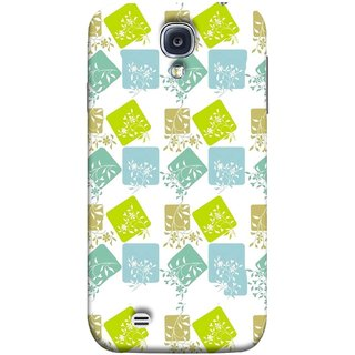 FUSON Designer Back Case Cover for Samsung Galaxy S4 I9500 :: Samsung I9500 Galaxy S4 :: Samsung I9505 Galaxy S4 :: Samsung Galaxy S4 Value Edition I9515 I9505G (Pixel Mosaic Background Squares Tree Plants Garden )