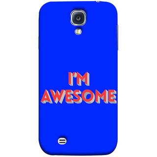 FUSON Designer Back Case Cover for Samsung Galaxy S4 I9500 :: Samsung I9500 Galaxy S4 :: Samsung I9505 Galaxy S4 :: Samsung Galaxy S4 Value Edition I9515 I9505G (I Am Lovely Wow Fact Motivational Inspirational Words)