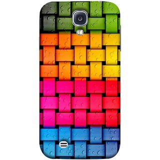 FUSON Designer Back Case Cover for Samsung Galaxy S4 Mini I9195I :: Samsung I9190 Galaxy S4 Mini :: Samsung I9190 Galaxy S Iv Mini :: Samsung I9190 Galaxy S4 Mini Duos :: Samsung Galaxy S4 Mini Plus (Bright And Beautiful Colour Strips And Band Glossy)