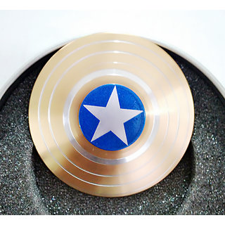 Buy CAPTAIN AMERICA SHIELD GOLD Fidget Spinner Hand Spinner Brass Metal For Anti Relieve Stress DHD Anxiety Autism Stress Reducer To Online - Get 85% Off