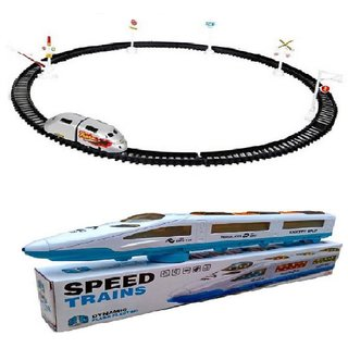 New Pinch combo of track train  With Round Track(180 cm ) with musical Train For Kids  (Multicolor)