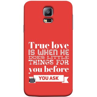 FUSON Designer Back Case Cover for Samsung Galaxy S5 :: Samsung Galaxy S5 G900I :: Samsung Galaxy S5 G900A G900F G900I G900M G900T G900W8 G900K (Ture Love When Before Ask Care Love Hearts)