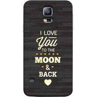 FUSON Designer Back Case Cover for Samsung Galaxy S5 :: Samsung Galaxy S5 G900I :: Samsung Galaxy S5 G900A G900F G900I G900M G900T G900W8 G900K (Main Chand Tak Pyar Karta Hu Love Birds Heart)