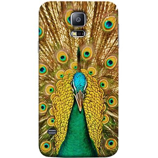 FUSON Designer Back Case Cover for Samsung Galaxy S5 Mini :: Samsung Galaxy S5 Mini Duos :: Samsung Galaxy S5 Mini Duos G80 0H/Ds :: Samsung Galaxy S5 Mini G800F G800A G800Hq G800H G800M G800R4 G800Y (Nice Colourful Long Peacock Feathers Beak)